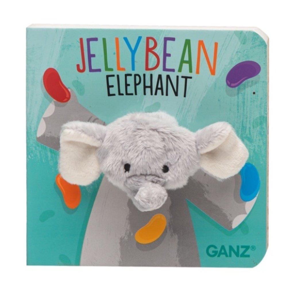 Ganz JELLY BEAN ELEPHANT FINGER PUPPET BOOK