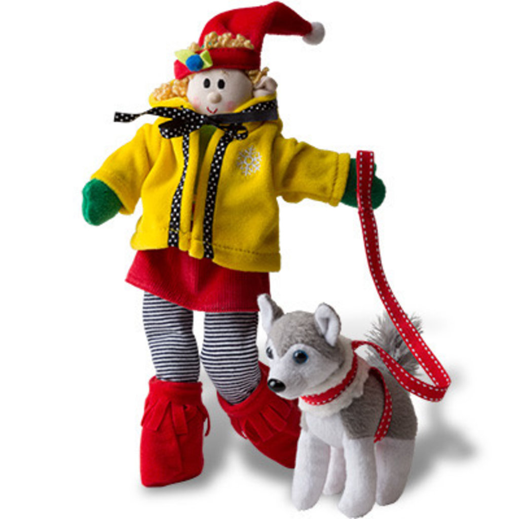 ELF MAGIC POLAR PETS- HO HO HUSKY AND SLEIGH