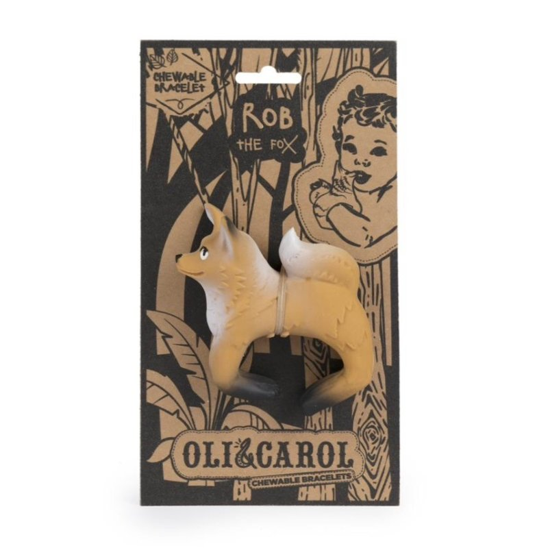 OLI & CAROL CHEWABLE TEETHER BRACELET- ROB THE FOX