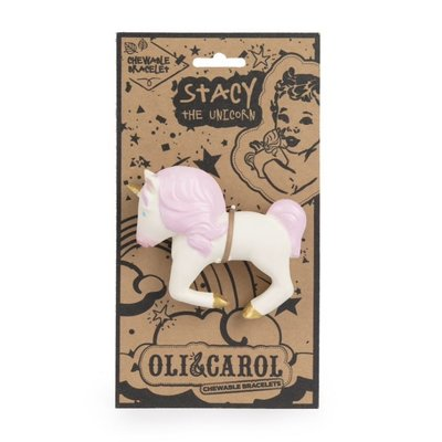 OLI & CAROL CHEWABLE TEETHER BRACELET- STACY THE UNICORN
