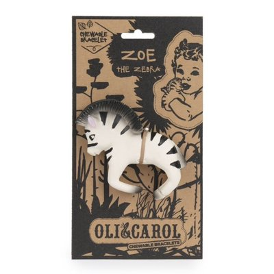 OLI & CAROL CHEWABLE TEETHER BRACELET- ZOE THE ZEBRA