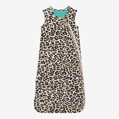 POSH PEANUT LANA LEOPARD TAN - 1 TOG SLEEVELESS RUFFLED SLEEP BAG