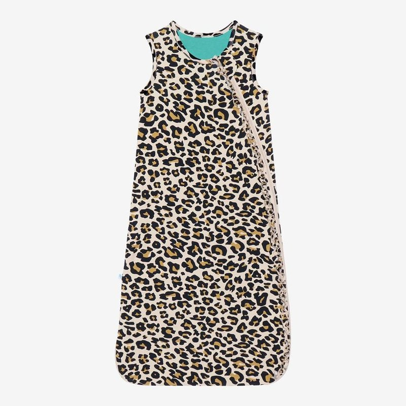POSH PEANUT LANA LEOPARD TAN - 1 TOG SLEEVELESS RUFFLED SLEEP SACK