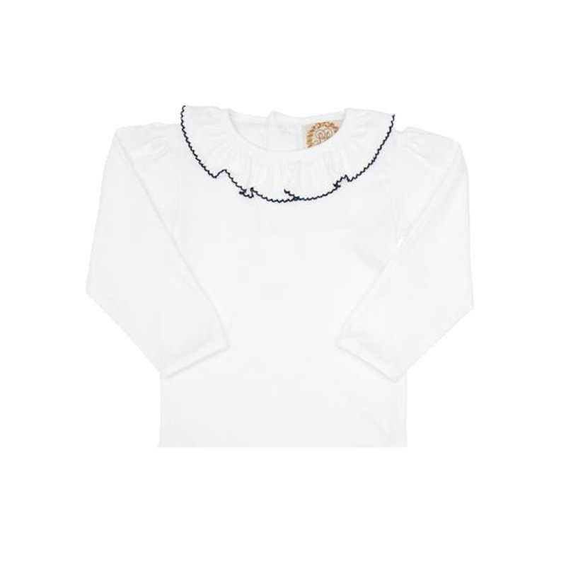 THE BEAUFORT BONNET COMPANY LS RAMONA RUFFLE COLLAR SHIRT
