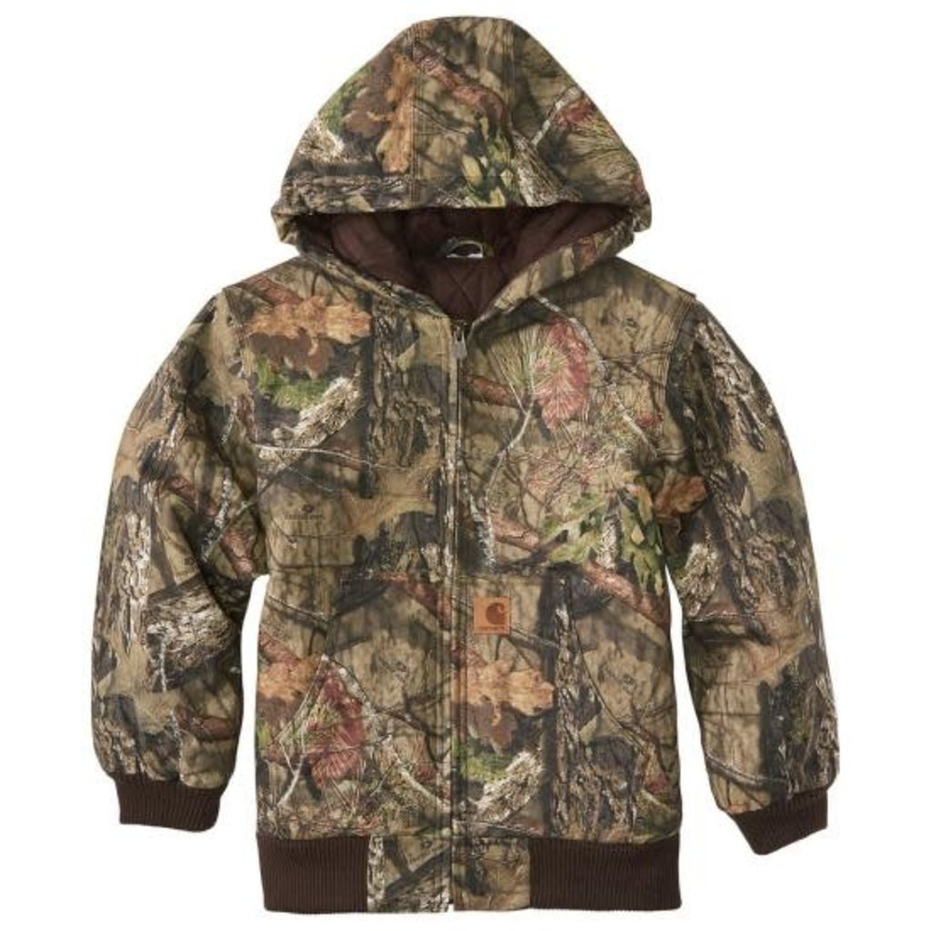CARHARTT CANVAS INSULATED HOODED CAMO ACTIVE JACKET