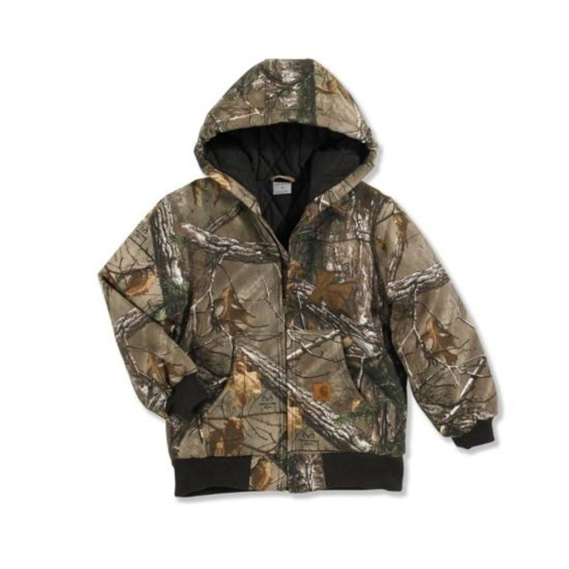 CARHARTT CAMO ACTIVE JAC/ QUILTED FLANNEL LINED