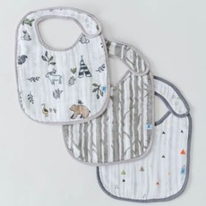 LITTLE UNICORN COTTON MUSLIN CLASSIC BIB 3PK- FOREST FRIENDS SET