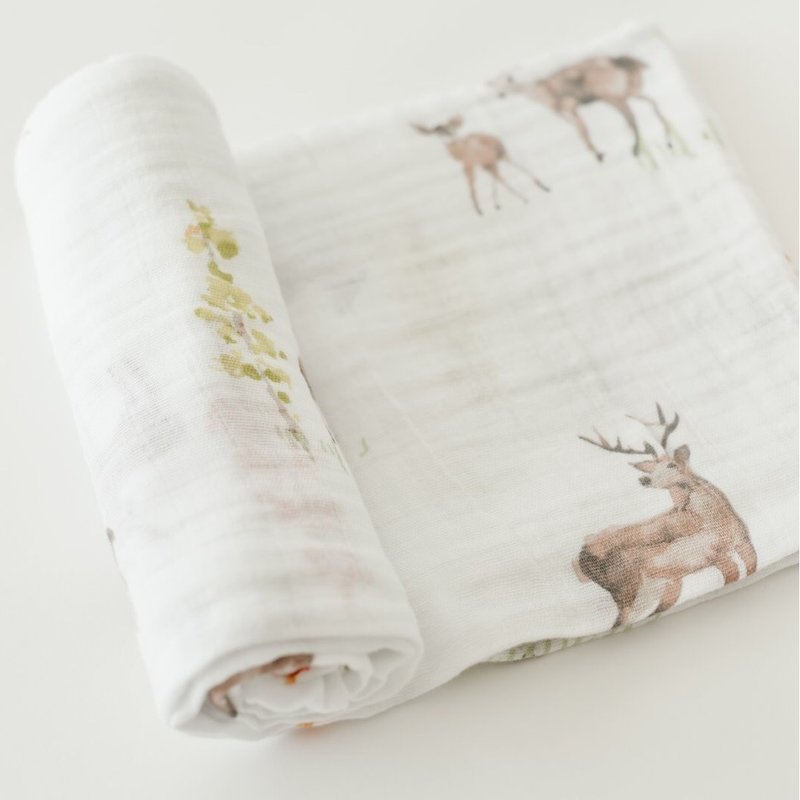 LITTLE UNICORN COTTON MUSLIN SWADDLE SINGLE- OH DEER