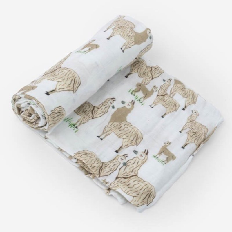 LITTLE UNICORN COTTON MUSLIN SWADDLE SINGLE- LLAMA LLAMA