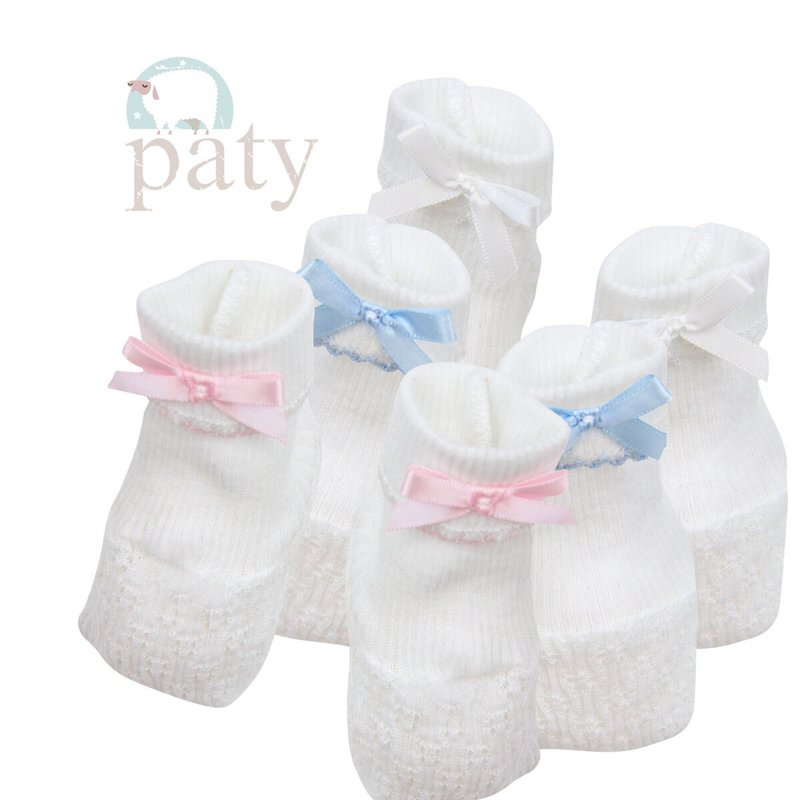 PATY BOOTIES WITH BOW AND TRIM