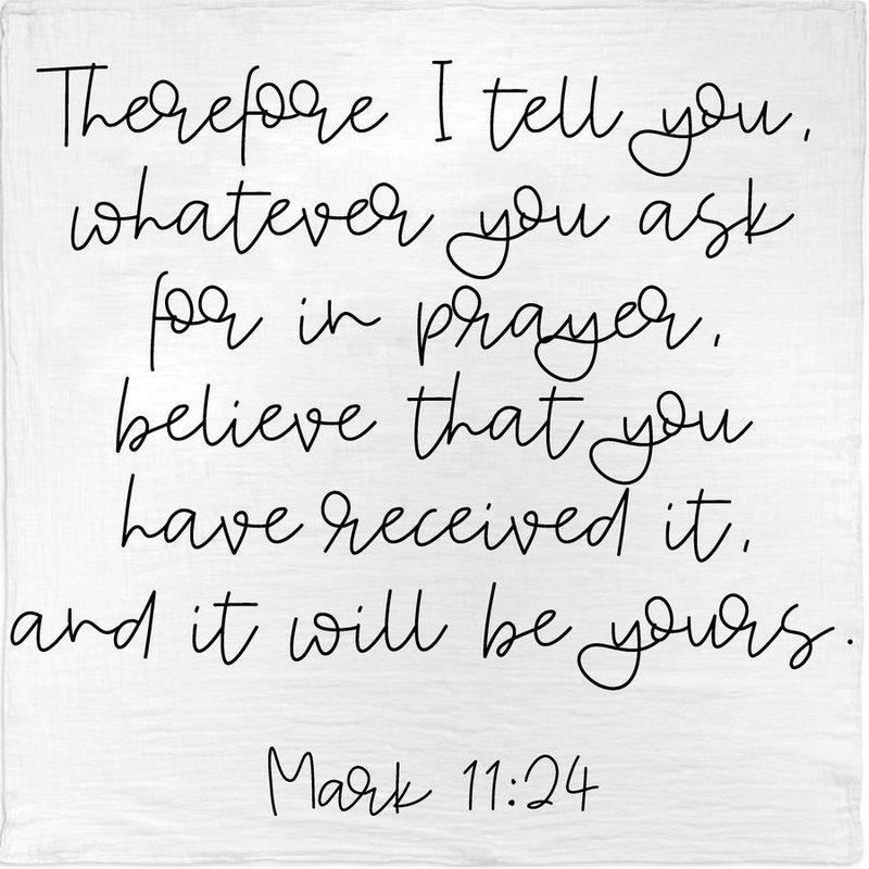 MODERN BURLAP MARK 11:24 SWADDLE