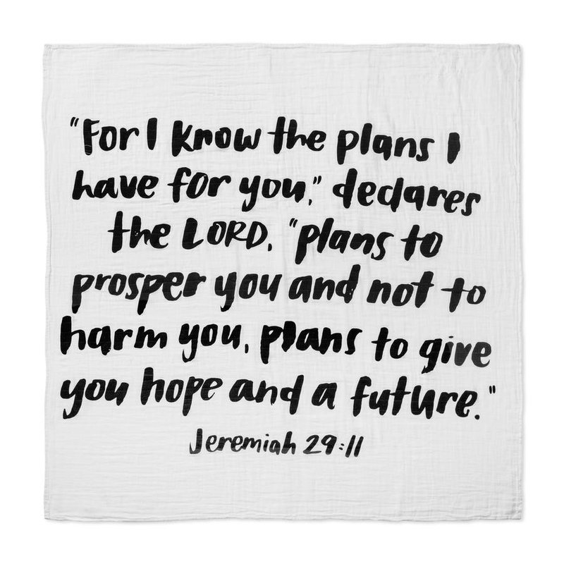 MODERN BURLAP JEREMIAH 29:11 SWADDLE