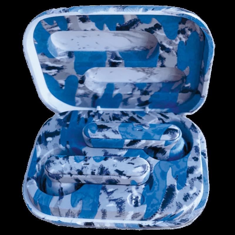 ISCREAM BLUE TIE DYE COMPACT EAR BUDS