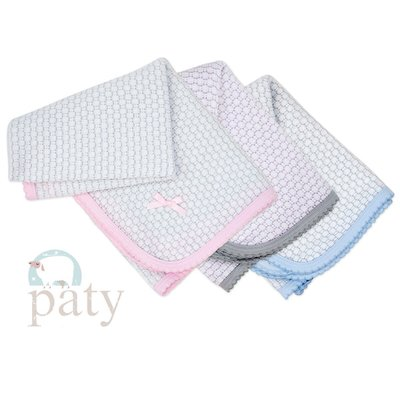 PATY PINSTRIPE KNIT BLANKET WITH COLORED TRIM