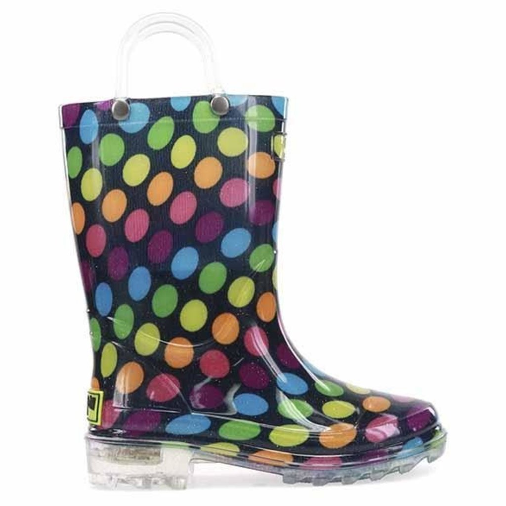 WESTERN CHIEF DARLING DOT LIGHTED RAINBOOT