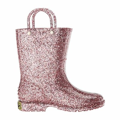 WESTERN CHIEF PVC GLITTER RAINBOOT - ROSE GOLD