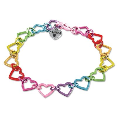 CHARM IT! CHARM IT! RAINBOW HEART LINK BRACELET