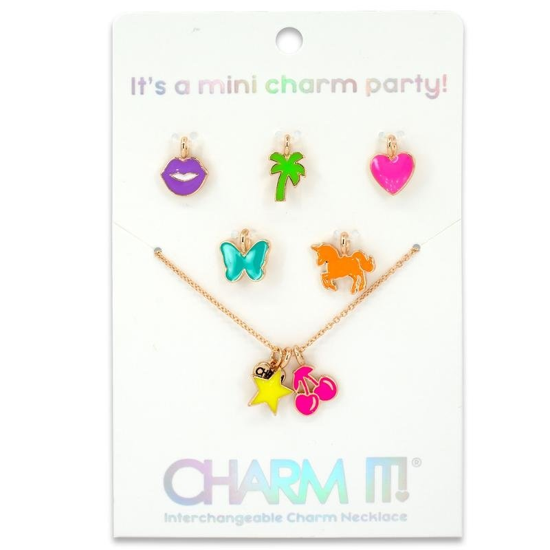 CHARM IT! GOLD NEON MINI CHARM NECKLACE