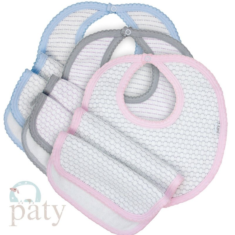 PATY PINSTRIPE BIB AND BURP SET
