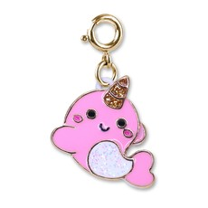 CHARM IT! GOLD GLITTER NARWHAL CHARM