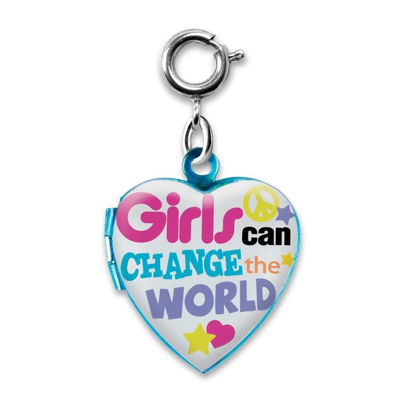 CHARM IT! GIRLS CAN CHANGE THE WORLD LOCKET CHARM