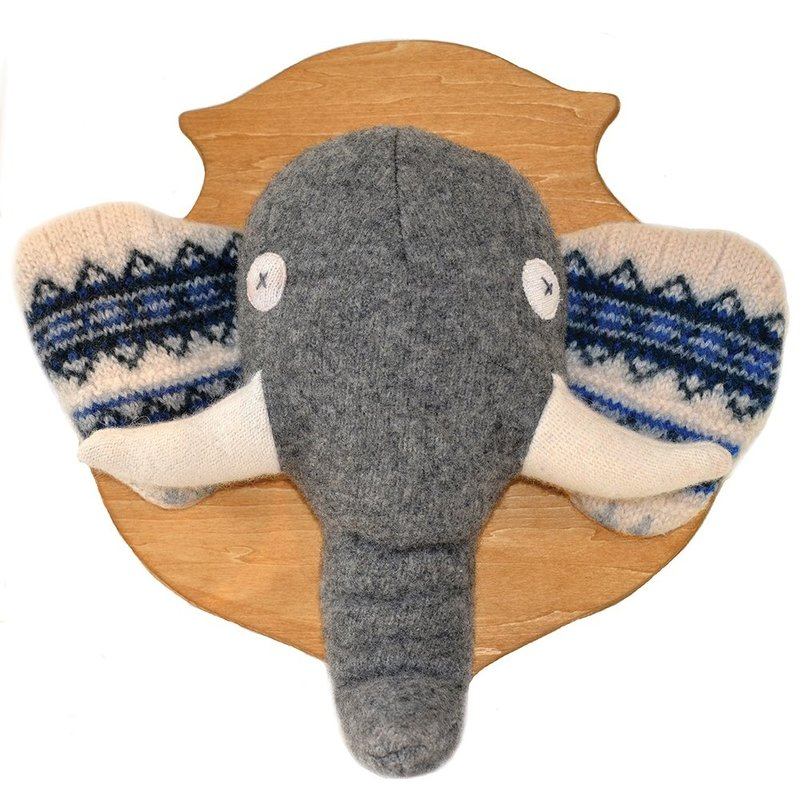 ANIMAL HEAD PLAQUE- ELEPHANT