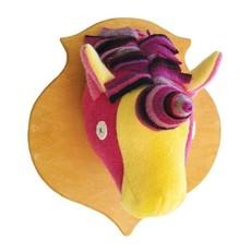 ANIMAL HEAD PLAQUE- UNICORN