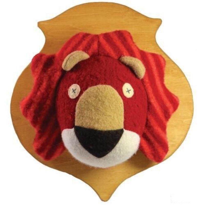 ANIMAL HEAD PLAQUE- LION