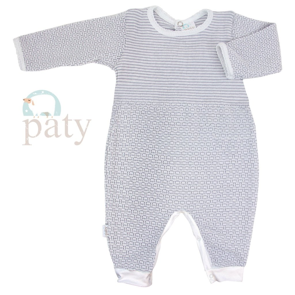 PATY LS ROMPER  WITH JERSEY