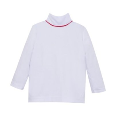 LULLABY SET UNISEX TINY TOT TURTLENECK- WHITE/RED