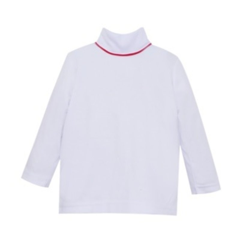 LULLABY SET UNISEX TINY TOT TURTLENECK- WHITE/RED