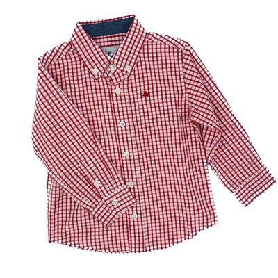 SOUTHBOUND DRESS SHIRT- BURNT RUSSET/WHITE