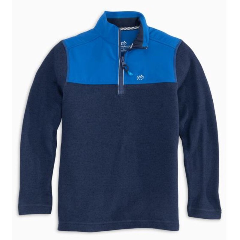 SOUTHERN TIDE YOUTH COTTAGE SWEATER FLEECE QUARTER ZIP