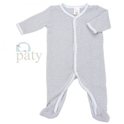 PATY LS SOLID FOOTIE WITH TRIM