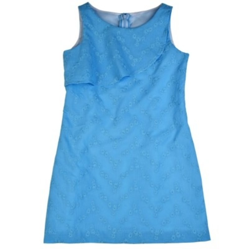 FUNTASIA TOO TURQUOISE ALINE EYELET DRESS