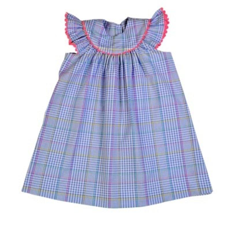 FUNTASIA TOO BLUE PLAID BISHOP DRESS