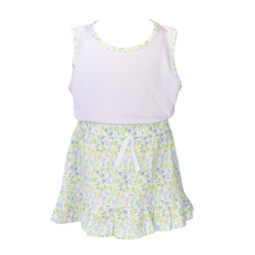THE PROPER PEONY GARDEN FLORAL TANK SHIRT WITH SKIRT