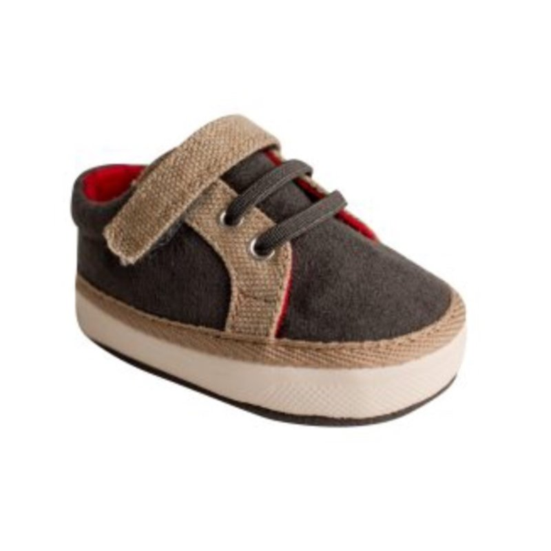 BABY DEER 4336 MURPHY GREY SUEDE W/TAN