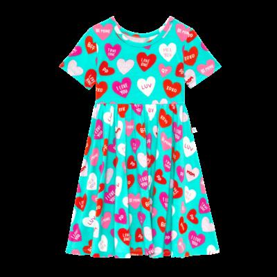 POSH PEANUT VALERIE - SS BASIC TWIRL DRESS