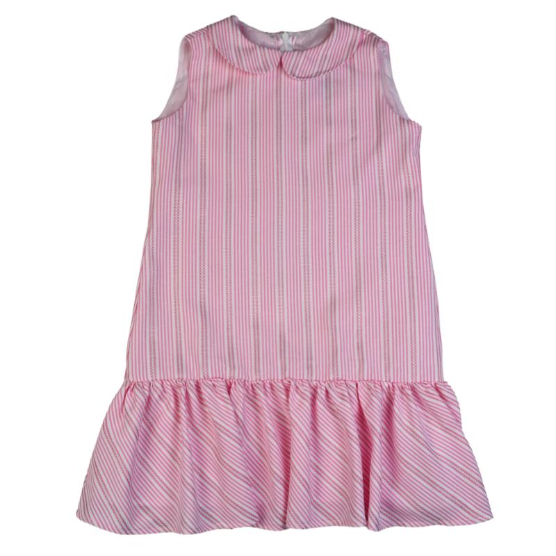 FUNTASIA TOO RUFFLE DRESS- PINK STRIPE