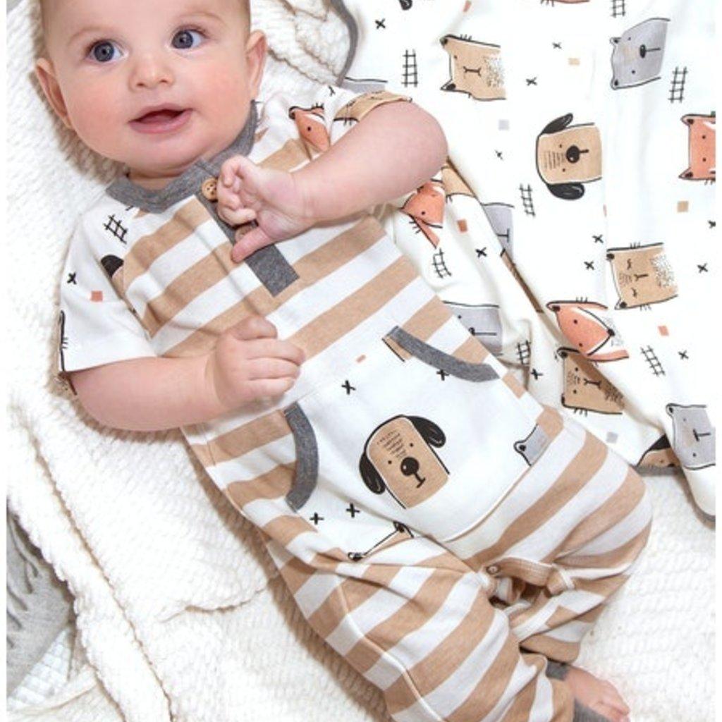 TESA BABE ANIMAL PARTY HENLEY ROMPER