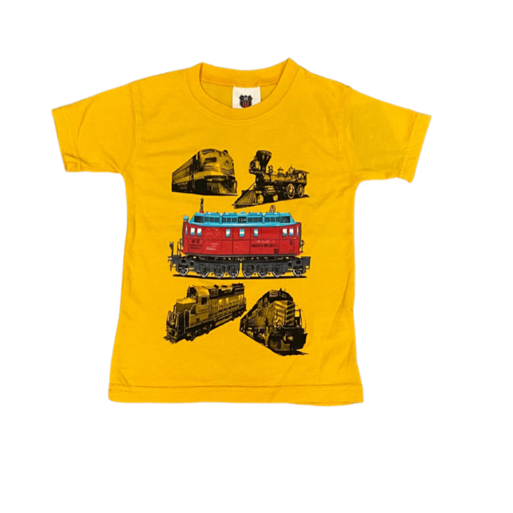 WES AND WILLY TRAINS SS TEE- BOLD GOLD