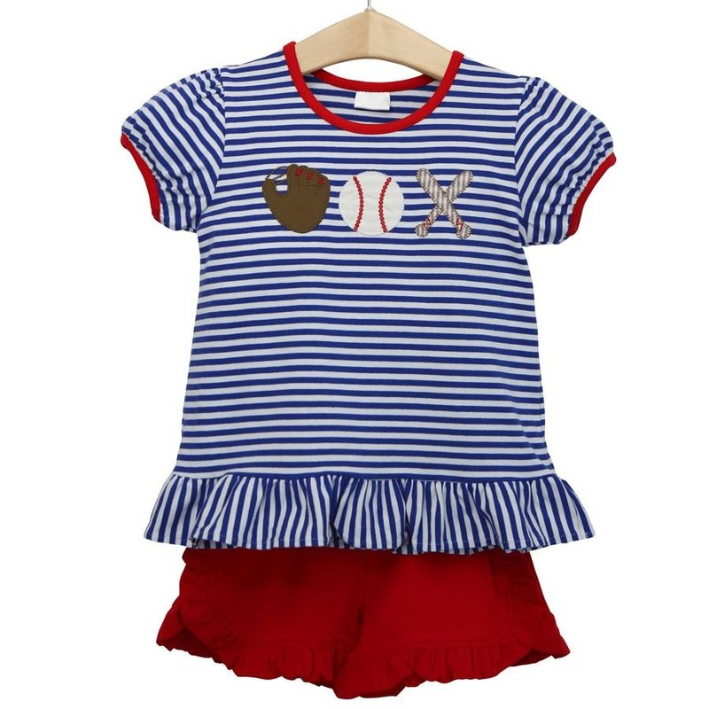 TROTTER STREET KIDS GIRLS BASEBALL SHORT SET