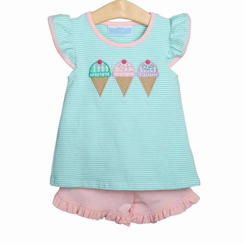 TROTTER STREET KIDS GIRLS ICE CREAM SHORT SET