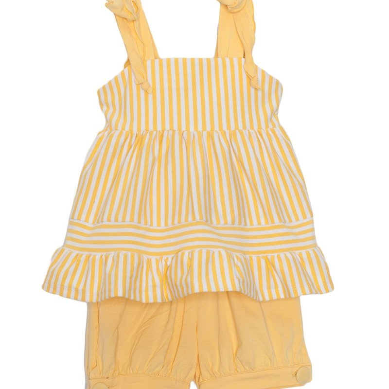 ISOBELLA & CHLOE YELLOW STRIPE KNIT 2PC SET