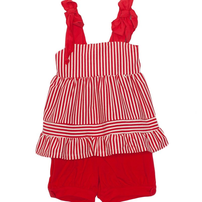 ISOBELLA & CHLOE RED STRIPE KNIT 2PC SET