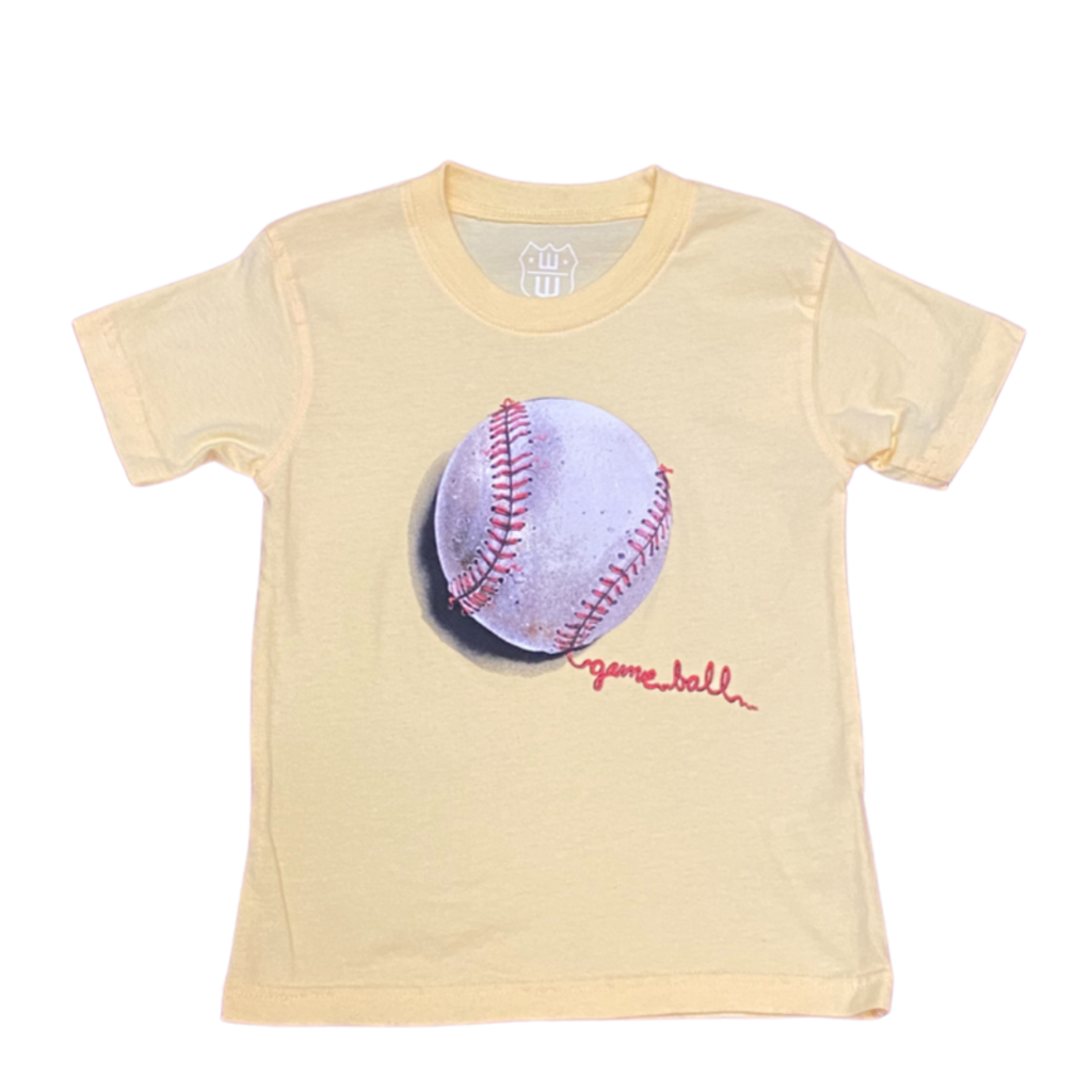 WES AND WILLY BASEBALL SS TEE- BUTTER