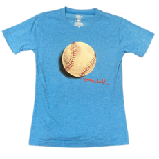 WES AND WILLY BASEBALL SS TEE- UC BLUE BLEND