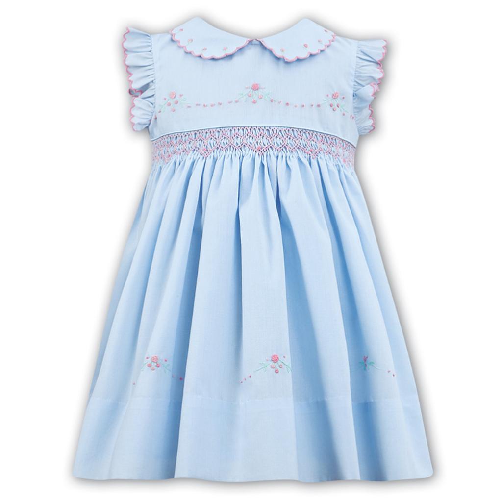 SARAH LOUISE C7102N- BLUE DRESS