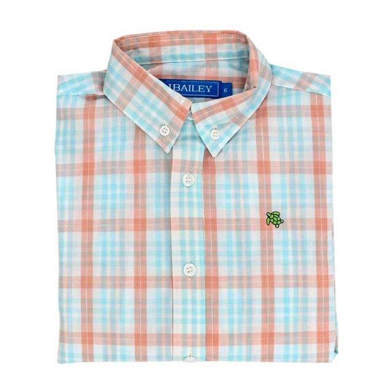 J.BAILEY BUTTON DOWN SHIRT- SEASIDE PLAID